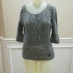 Oscar de la Renta gray knit sweater